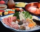 ◆秘伝の鍋と寿司を愉しむ◆ Bコース 飲み放題付5200円(税込)