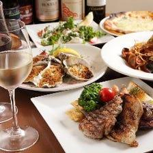地中海料理ベースのコース2,480円(税込)~