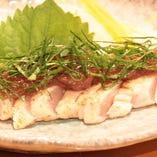 炙りササミの紫蘇梅肉