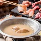 水炊きでやんばる地鶏を舌鼓
