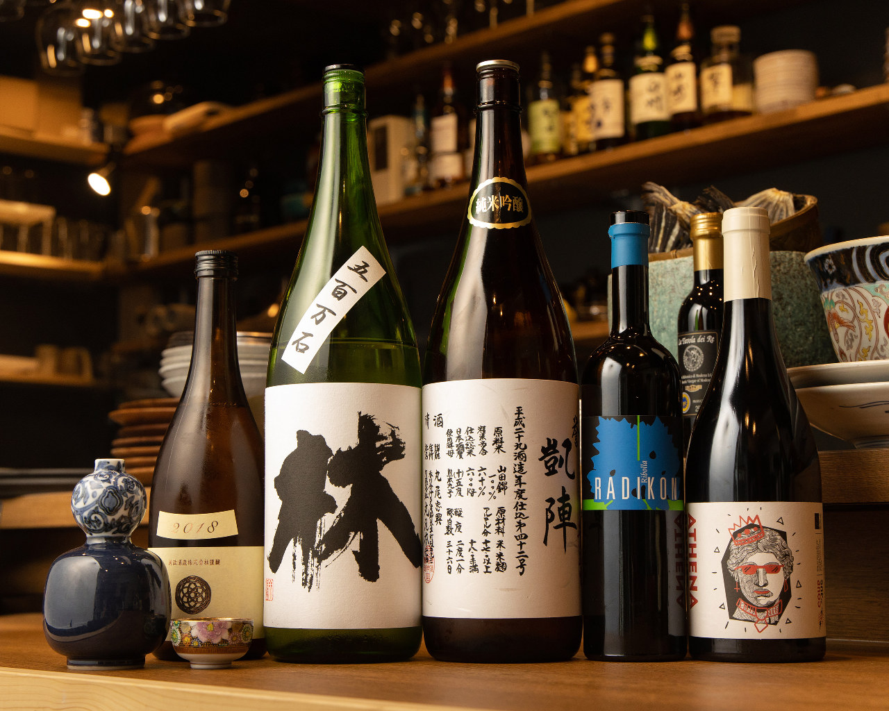 ◆洗練された料理と味わう日本酒