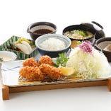 【季節物】牡蠣フライ膳(4個)