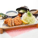 【季節物】牡蠣フライとヒレかつ膳