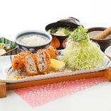 【季節物】牡蠣フライとメンチカツ膳