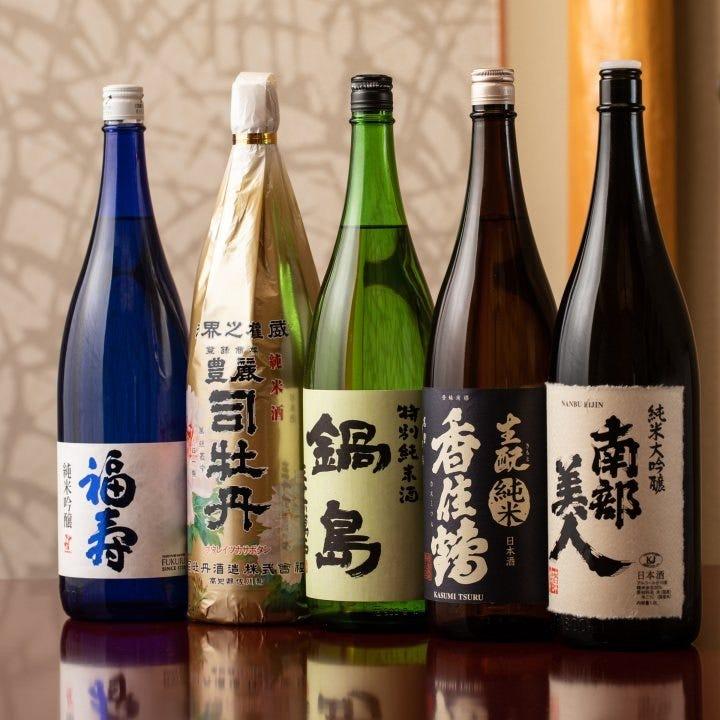 日本酒やワイン、紹興酒を堪能できる