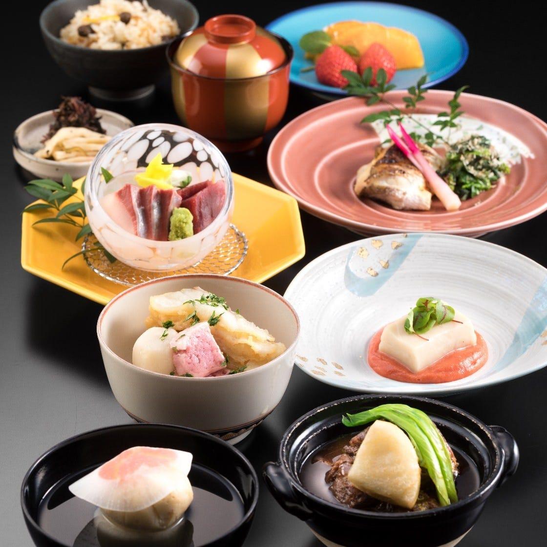 職人が季節の食材で彩る会席料理