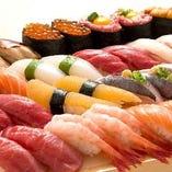30種以上の高級江戸前寿司が食べ放題