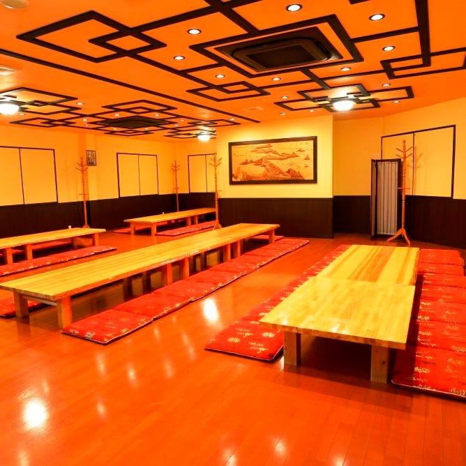 3階は最大80名様収容の宴会場です!人数次第ではフロア貸切に!