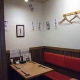 全20席あり、店内奥には 個室のような空間になっております。