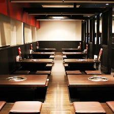 50名収容可能な宴会スペース