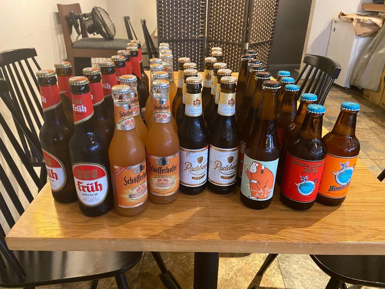 クラフトビールもそろえてます♪