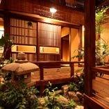 広島 流川の街中に佇む中庭を設えた【静】の空間。宴会最大40名様可能!!