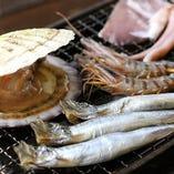 瀬戸内の旬の海鮮を楽める 『おすすめ浜焼き 5種』
