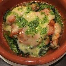 かき貝のカクテルチーズ焼き