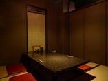 落ち着いた雰囲気の 個室席