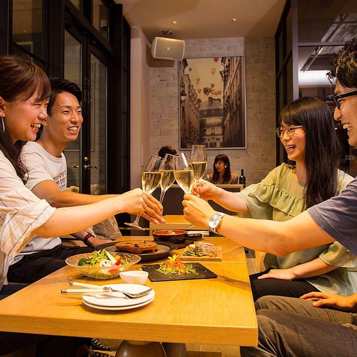 1時間1,000円飲み放題も大人気!