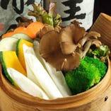 蒸し京野菜のバーニャフォンデュソース