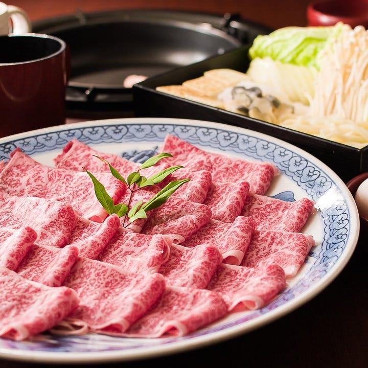 黒毛和牛プレミアム すき焼き食べ放題&飲み放題 プラチナ鍋宴会