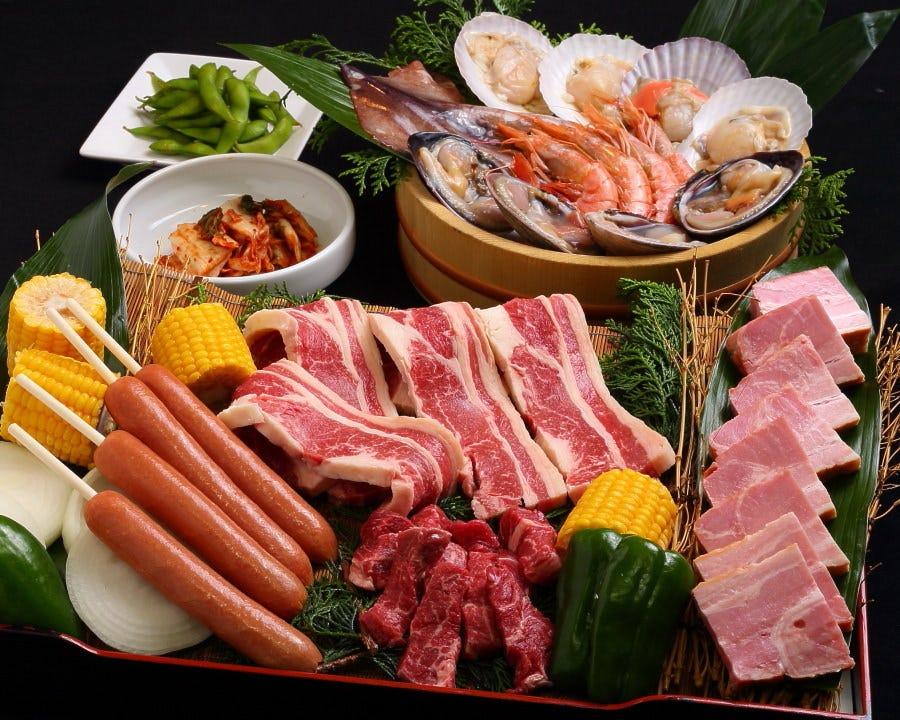 新登場☆彡焼肉と海鮮焼きのバーベキューコース