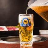 美味しいお肉にはやっぱり生ビール!