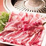 黒毛和牛焼肉食べ放題(黒毛牛、国産牛)