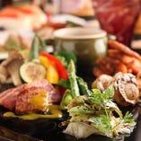 季節の食材を使った肉バルメニュー