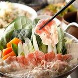 鹿児島・黒豚と季節野菜の寄せ鍋