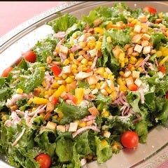新鮮野菜を贅沢に使ったサラダ