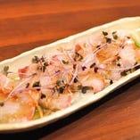 「本日の鮮魚 カルパッチョ」