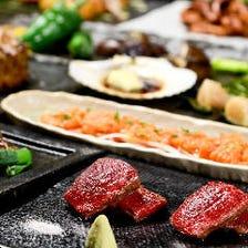 たこ焼きにお好み焼き、黒毛和牛サーロインや人気の鉄板創作料理も堪能『6,900円(税抜)コース』全12品