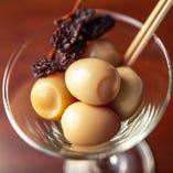 「半熟うずら卵のどんぐり」