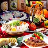 飲み放題付宴会コースは3850円~ご用意。
