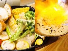 本日の朝獲れ三浦野菜のオーブン焼き~特製焦がしチーズソースがけ~