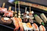 魚介串から野菜、鶏・豚・牛串などがお楽しみいただけます