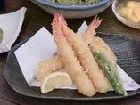 コース料理などで天ぷらもご提供いたします