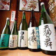 石川を中心に自慢の地酒を取り揃え