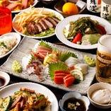 牛ステーキ&刺身!飲み放題付「なんちちコース」4380円(税込)