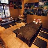 【座敷個室】沖縄の古民家にいるかのようなリラックス感にあふれたお席|14~18名様