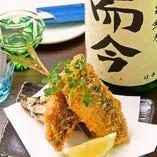 日本酒に合うお料理も多数ご用意。肴(魚)を中心にこだわった食材