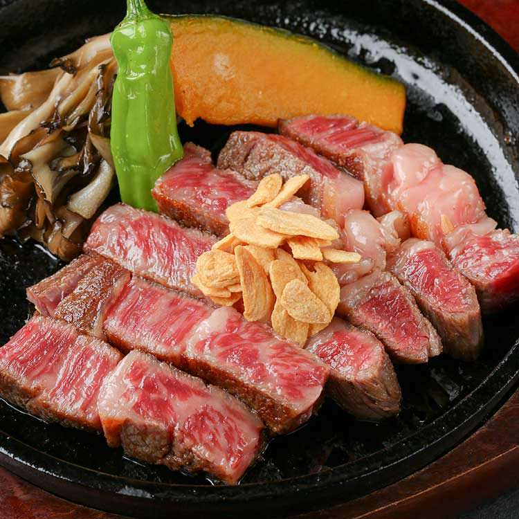 近江牛を藁焼き&ステーキで