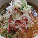 漸式葱とチャーシューのサンラータン麺