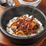 ウニ、イクラ、キノコの土鍋ご飯