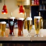 ビールはそれぞれ見た目や味わいが異なるので、ぜひ様々なビールをお楽しみください♪
