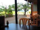 レストランせせらぎ亭からの眺め
