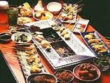 ◆お好きな食材を自分の テーブルで揚げるシステム!!