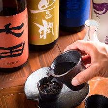 こだわりの日本酒・焼酎を多数用意!
