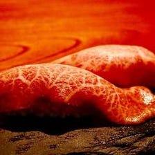 旨味とろける葉山牛の炙り肉寿司