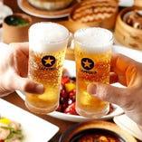 辛い料理にはお酒が進む!ビールや紹興酒などの中国酒で乾杯!