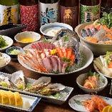 鍋派も旬菜派も!選べるのが嬉しい、さかなやまのコース料理。