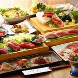 旬の魚を満喫出来るコースは5000円~♪ 女子会コースもご用意!